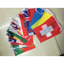 Banderas Mundo Eurocopa Banderines 7m Decoracion Bar Viajero
