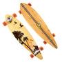 Skate Long Board Twodogs Bambu Abec11 Estampa 2 Roda Laranja