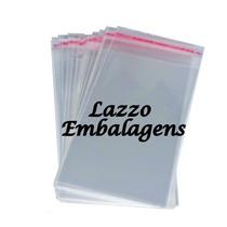 Saquinho Plastico Bopp Adesivado 7x12+aba. Kit Com 100pçs