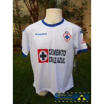 Jersey Cruz Azul Hidalgo Kappa 2016 Escudo Retro Visitante