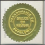 Cucardas Metalizadas Doradas Certificados Relieve Adhesivas