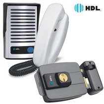 Kit Interfone Hdl Porteiro Eletrônico F8 Fechadura Elétrica
