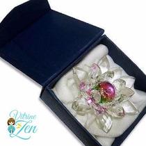 Enfeite Flor De Lotus Cristal Grande 13 Cm