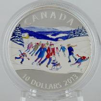 Moneda Canada 1/2oz. Plata ,9999 Escena De Invierno 2013