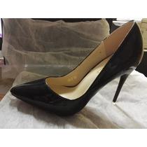 Zapatos De Taco Como Louboutin Color Negro Talla 35.5 Taco11