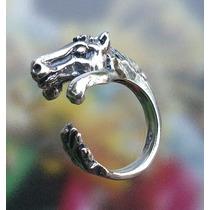 Anillo De Caballo En Plata Fina Ley.925 Sterling Silver