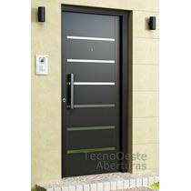 Puerta Nexo 7 Tableros Laminas Acero Galva Inyectada 80x200