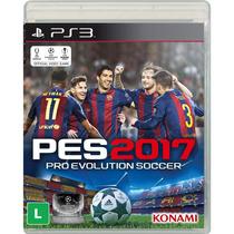Pes 2017 Ps3 Futebol Midia Cd Blu-ray Original Lacrado Portu