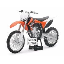 Miniatura Moto Trilha Ktm 350 Sx-f New Ray Escala 1/12