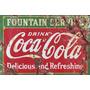 Trio De Placas Coca Cola Decoração P/ Cozinha Lanchonete Bar