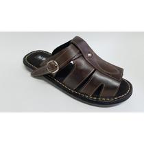 Sandália/masculina/couro/promoção/especial Barato