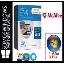 Mcafee Internet Security Licencia Original 1 Año 3 Pc