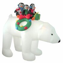 Inflable Navidad Oso Polar Pingüinos Decoracion Navideña