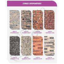 Tecido Jacquard Parede Wall 1m X 1,4m Tijolo Pedra Madeira