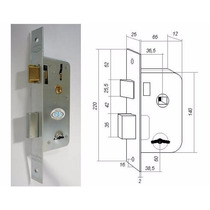 Cerradura Seguridad Doble Paleta Roa 901 Tipo Prive - Trabex