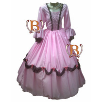 Disfraz Vestido Patrio Dama Antigua Colonial Princes Premium