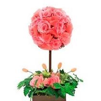 Centro De Mesa Arreglo Floral Foamy Xv Años Bautizo Boda