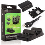 Xbox One Base Dual Cargadora Controles + Cable + 2 Pilas
