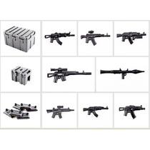 Swat Bass Armor Armas Accesorio Militar Compatible Con Lego