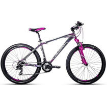 Bicicleta Rodada 26 Alubike Xcw Gris/morado Slite Series