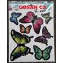 Etiquetas Decorativas Mariposas De Colores Vl0501.! Cosan.