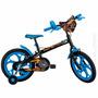 Bicicleta Hot Wheels Aro 16 Infantil Menino Rodinhas Caloi