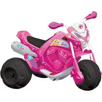 Moto Elétrica Infantil Trail Barbie El 6v Rosa Bandeirante