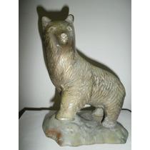 Preciosa Escultura De Oso De Bronce Solido ,pesado Mmu