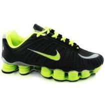 Tênis Nike Shox Tlx (12 Molas) Prata/rosa Mas/fem Original