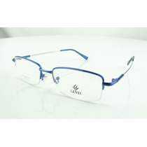 Armação Azul Oculos Grau Titanium Suporta Lente Grossa A787