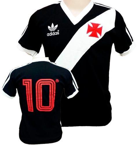 8ec40ebade7b4 Camisa Vintage Retrô Vasco Da Gama 1984 Blusa Preta Camiseta - R  89 ...