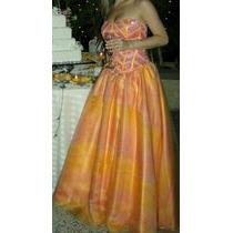 Hermoso Y Lujoso Vestido De Fiesta En Organza