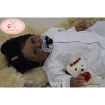 Boneca Reborn Amanda (negra), Pronta Entrega