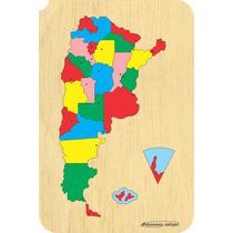 Encastre Mapa Argentina - Juguetes Didácticos En Madera