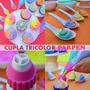 Cupla Tricolor Parpen Decoracion Cupcake Torta