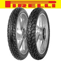Par Pneu De Moto 80/100 R14 + 60/100 R17 Pirelli Formula