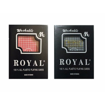 Cartas 100% Plástico-color Rojo/negro Lavables/ Indeformable
