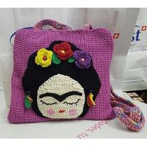 Frida Kahlo Cartera Tejida Al Crochet