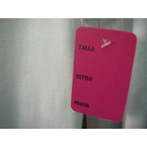 Etiqueta Color Perforada Para Ropa Con Talla Precio Estilo