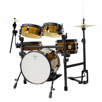 Mini Bateria Acústica Rmv Travel Cafe Kit Pbjt 14962 C/ Rack