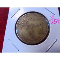 Zz#254 Moneda Del Mundo Paz 1 Quetzal Guatemala
