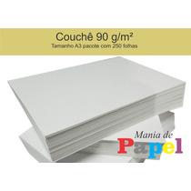 Papel Couchê 90 G/m² - A3 - Pacote Com 250 Folhas