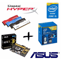 Kit Proc Ci5 4460 + Asus H81m-a + Mem 8gb Hyperx Fury