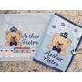 Capa Para Cartão De Vacinas+ 2 Toalhinhas Bordadas