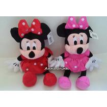 Minnie Rosa E Vermelha Kit C/2 Pelucias Disney