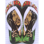 Chinelo Sandália Personalizado Bob Marley Reggae