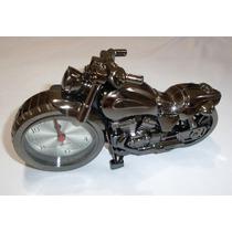 Relógio De Mesa Analogico Moto Detalhado C/ Alarme Leilao **