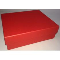 20 Caixas De Presente Em Papelão Na Cor Vermelha