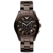 Relógio Emporio Armani Ar1446 Cerâmica Marrom Original 12x