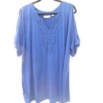 Blusa Color Azul Bellisma Avenida Talla Extra $650..00